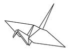 Disegno da colorare origami