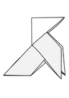 Disegno da colorare origami - uccello