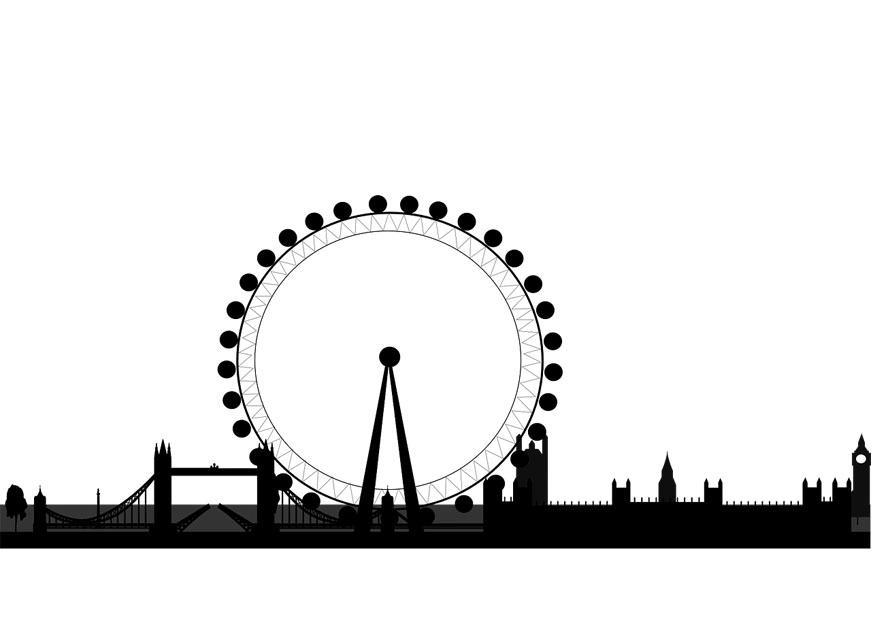 Immagini Di Londra Da Colorare.Disegno Da Colorare Orizzonte Di Londra Disegni Da Colorare E