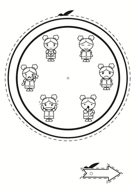 Disegno Da Colorare Orologio Delle Emozioni Cat 30534