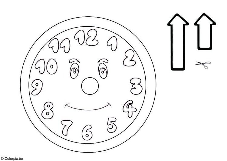 Disegno Da Colorare Orologio Cat 5761