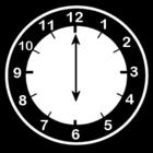 Disegno da colorare orologio ore 6
