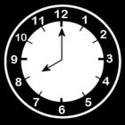 Disegno da colorare orologio ore 8