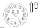 Disegno da colorare orologio