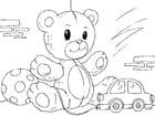 Disegno da colorare orsetto di peluche