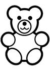 Disegno da colorare orsetto