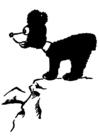 Disegno da colorare orso in montagna