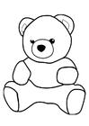 Disegno da colorare orso