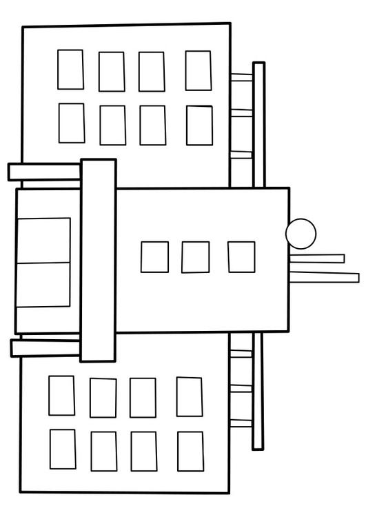 Disegno Da Colorare Ospedale Cat 22477 Images