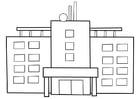 Disegno da colorare ospedale