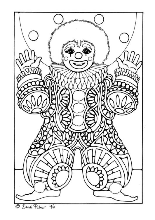 Disegno da colorare pagliaccio cat 9206 for Immagini di clown da colorare