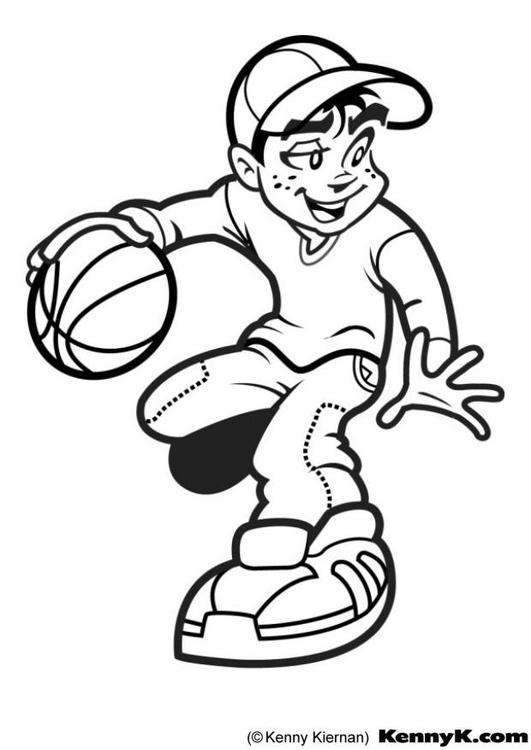 Disegno da colorare pallacanestro cat 7020 - Immagini stampabili di pallacanestro ...