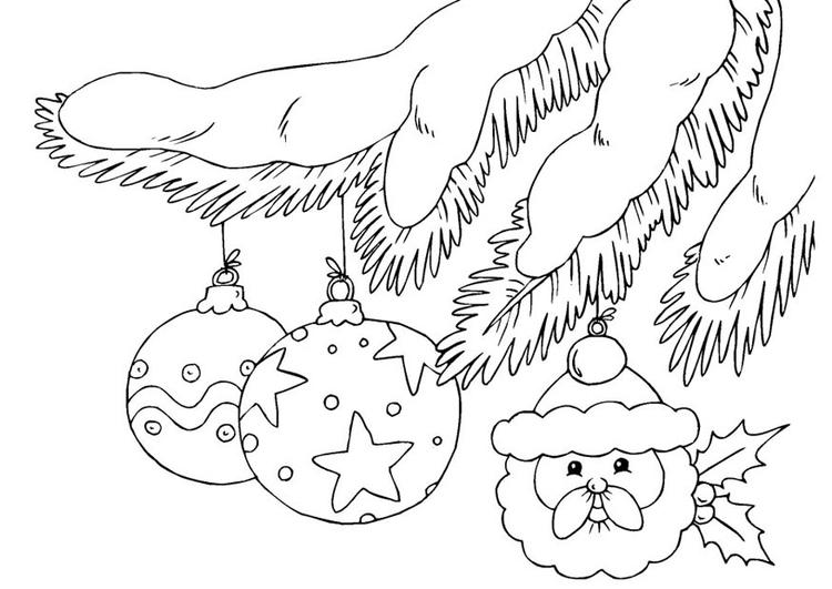 Disegno Da Colorare Palle Di Natale Cat 23375