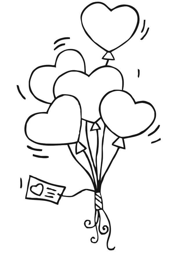 Disegno Da Colorare Palloncini Cuoricini Cat 21188