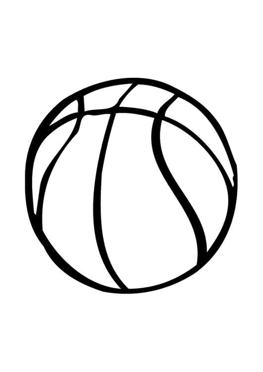 Disegno Pallone Da Colorare.Disegno Da Colorare Pallone Da Basket Disegni Da Colorare E