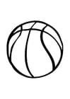 Disegno da colorare pallone da basket