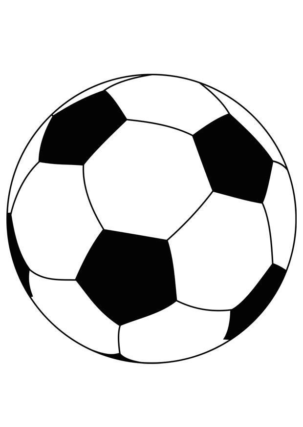 Disegno da colorare pallone da calcio Cat 15759
