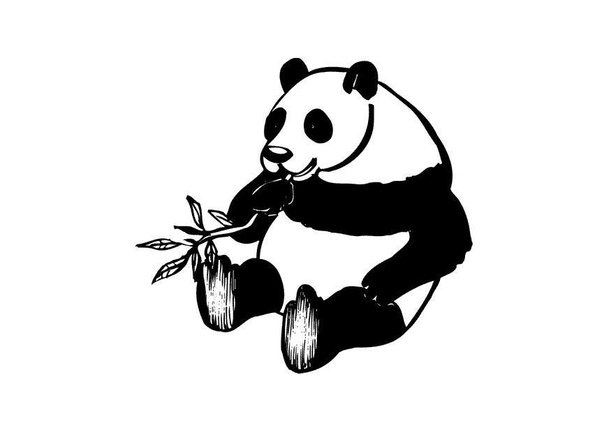 Disegno Da Colorare Panda Cat 10434