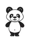Disegno da colorare panda