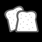 Disegno da colorare pane