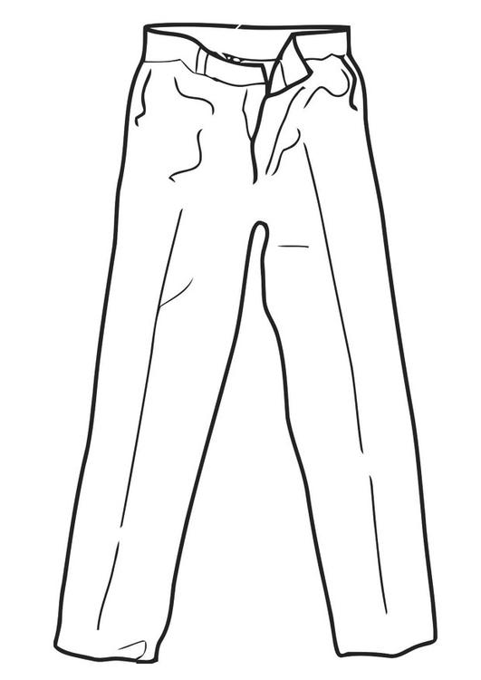 Pantalone Da Colorare.Disegno Da Colorare Pantalone Disegni Da Colorare E Stampare Gratis