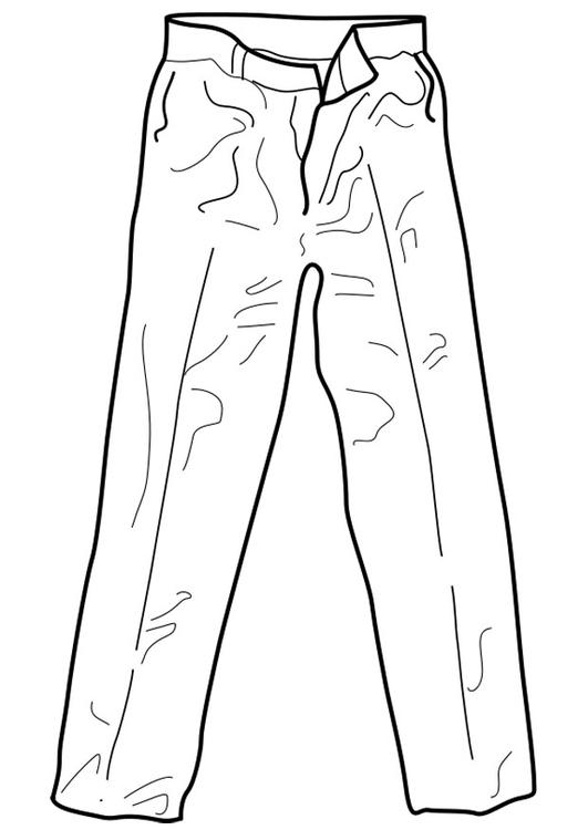 Disegno Da Colorare Pantaloni Cat 18961