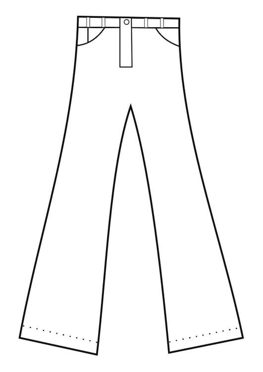 Disegno Da Colorare Pantaloni Cat 19152