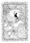 Disegno da colorare pappagallo