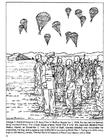 Disegno da colorare paracadutisti