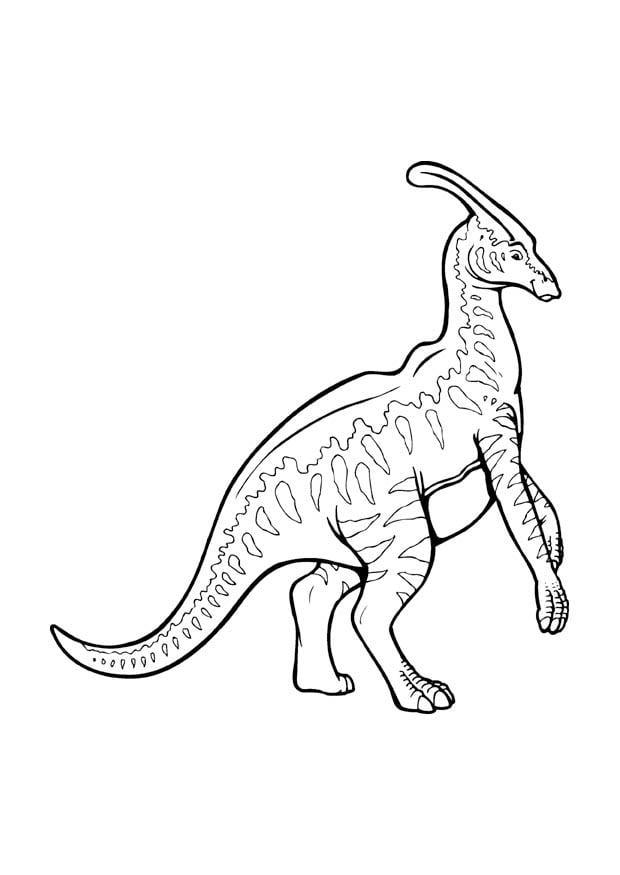 disegno da colorare parasaurolophus disegni da colorare