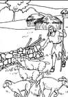 Disegno da colorare pastori