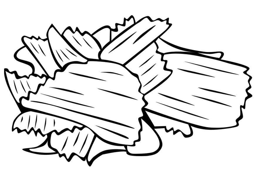 Disegno Da Colorare Patatine Cat 22405