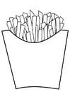 Disegno da colorare patatine fritte