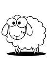 Disegno da colorare pecora