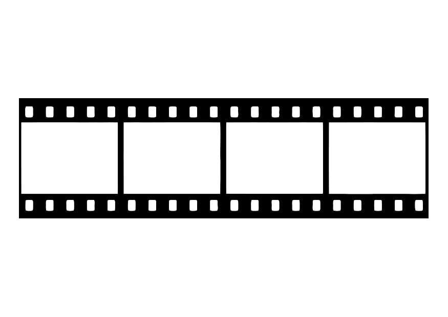 disegno da colorare pellicola  negativo