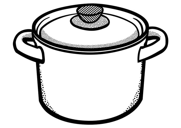 Disegno da colorare pentola da cucina - Cat. 29450.