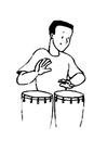 Disegno da colorare percussioni