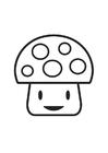Disegno da colorare personaggio funghetto