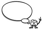 Disegno da colorare personaggio parlante