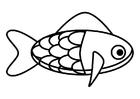 Disegno da colorare pesce