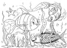 Disegno da colorare pesci