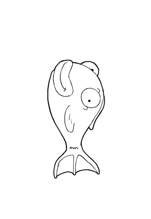Disegno da colorare pesciolino cat 13857 for Pesciolino da colorare