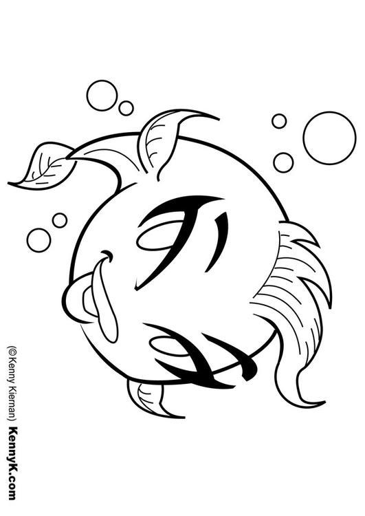 Disegno da colorare pesciolino cat 20062 for Pesciolino da colorare