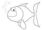 Disegno da colorare pesciolino