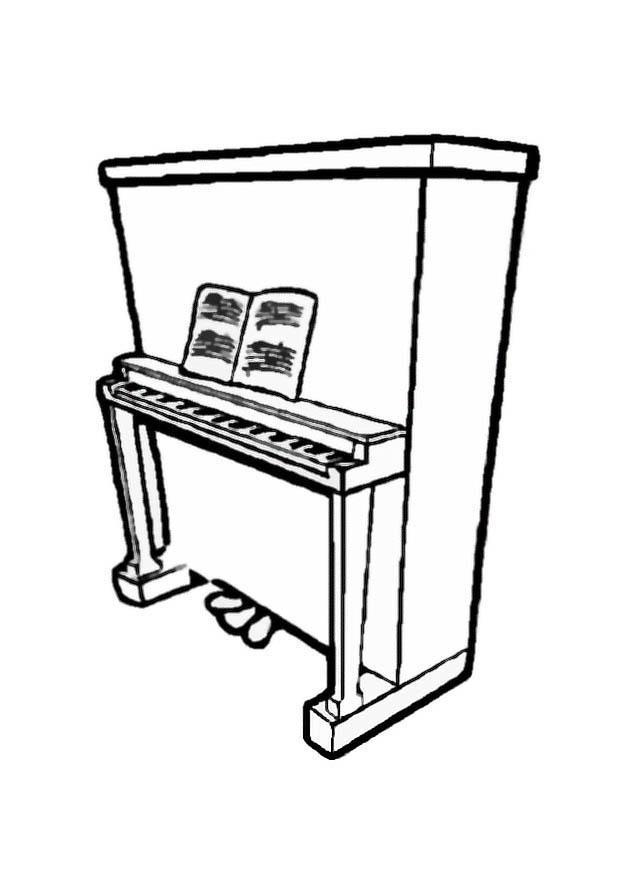 Disegno Pianoforte Da Colorare.Disegno Da Colorare Pianoforte 2 Disegni Da Colorare E