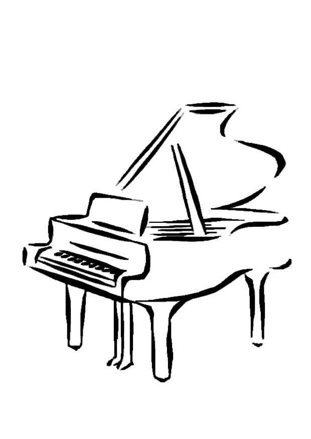 Disegno da colorare pianoforte cat 8723 - Coloriage piano ...