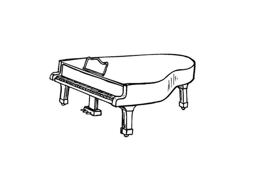 Disegno Pianoforte Da Colorare.Disegno Da Colorare Pianoforte Disegni Da Colorare E Stampare Gratis