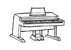 Disegno da colorare pianoforte