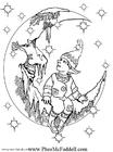 Disegno da colorare piccolo elfo 2