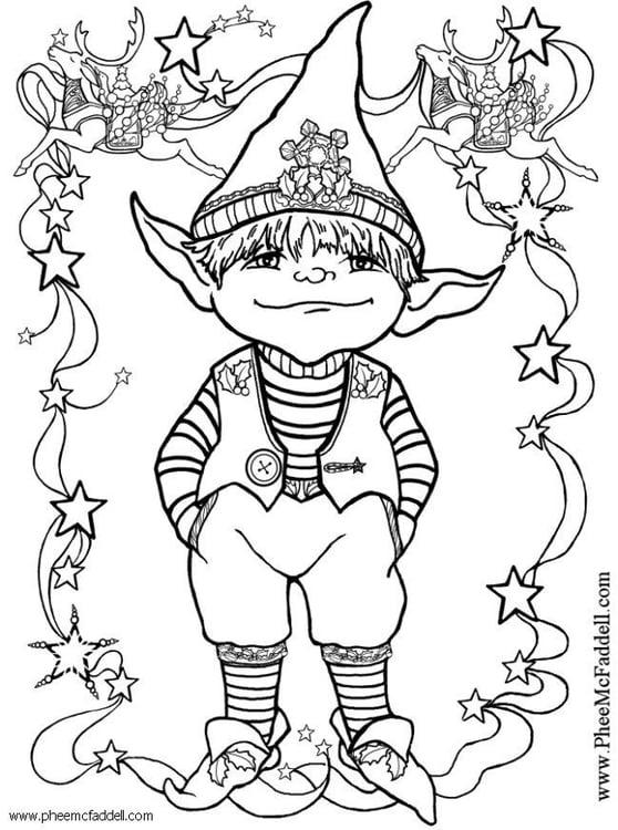 Disegno Elfo Folletto 8 Categoria Fantasia Da Colorare